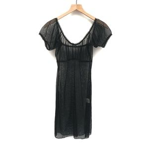Her Pony The Label Black Sheer Dress - Size 10